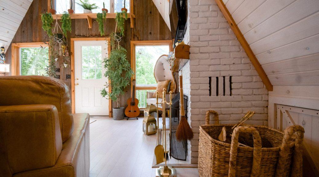 laminált padló szép nappaliban